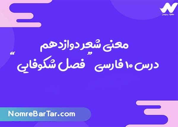 معنی شعر فصل شکوفایی فارسی دوازدهم